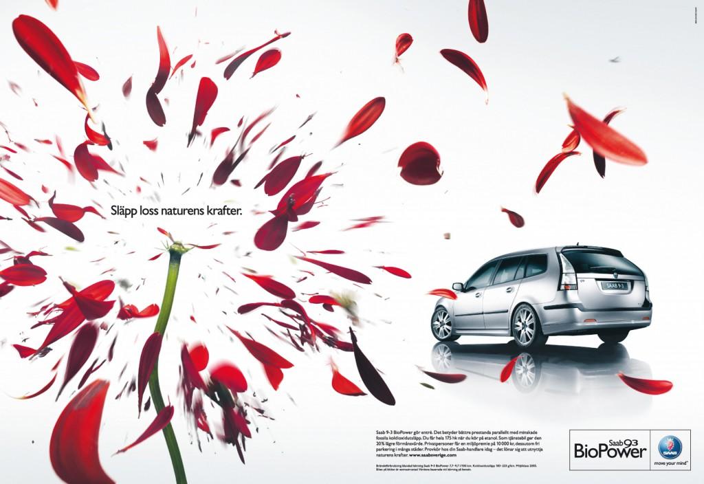 Saab BioPower Blomma och Bil